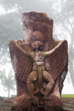 Indonesia, Java, Mount Lawu, Candi Sukuh. an Ancient Stone Carving in the Grounds of Candi Sukuh by Nigel Pavitt