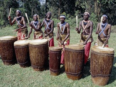 Intore Drummer Plays at Butare,In the Days of Monarchy in Rwanda