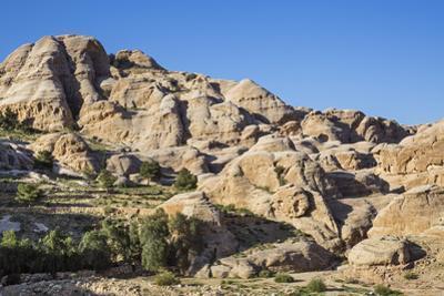 Jordan, Petra. the Attractive Sandstone Rock Formations