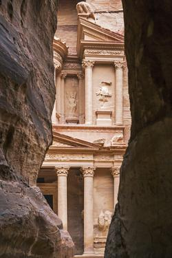 Jordan, Petra. the Siq Is the Main Entrance to the Ancient Nabataean City of Petra. Al Khazneh by Nigel Pavitt