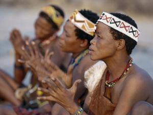 Kung Women Sing and Clap their Hands, They are San Hunter-Gatherers, Often Referred to as Bushmen by Nigel Pavitt