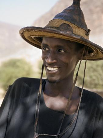 Mopti, A Fulani Man Wearing a Traditional Hat, Mali
