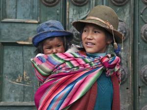 Peru, a Young Peruvian Girl by Nigel Pavitt