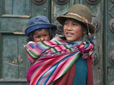 Peru, a Young Peruvian Girl by Nigel Pavitt