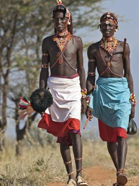 Two Samburu Warrior of Northern Kenya in All their Finery; by Nigel Pavitt