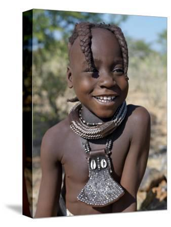 Young Himba Girl, Her Body Lightly Smeared with Mixture of Red Ochre, Butterfat and Herbs, Namibia by Nigel Pavitt