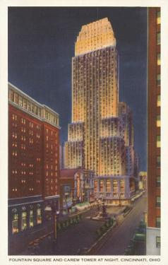 Night, Carew Tower, Cincinnati, Ohio