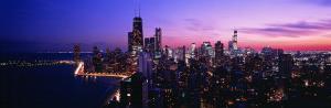 Night, Cityscape, Chicago, Illinois, USA