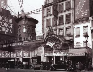 Night Club Paris France Archival Photo Print Poster