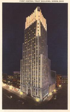 Night, First Central Trust Building, Akron, Ohio