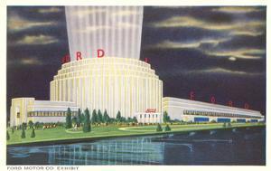 Night, Ford Rotunda, Dearborn, Michigan