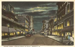 Night, Granby Street, Norfolk, Virginia