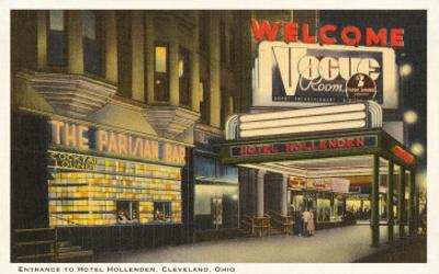 Night, Hotel Hollenden, Cleveland, Ohio