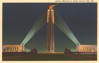 Night, Liberty Memorial, Kansas City, Missouri