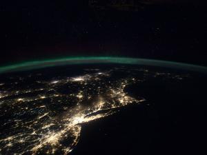 Night Lights from the Philadelphia-New York City-Boston Corridor