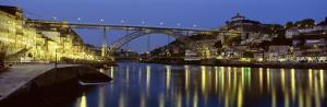 Night, Luis I Bridge, Porto, Portugal