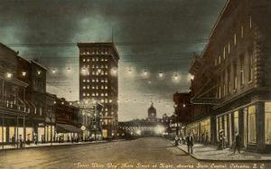 Night, Main Street, Columbia, South Carolina