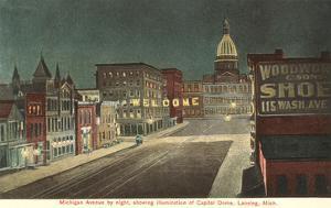 Night, Michigan Avenue, Lansing, Michigan