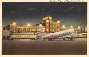 Night, Municipal Airport, Kansas City, Missouri