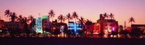 Night, Ocean Drive, Miami Beach, Florida, USA