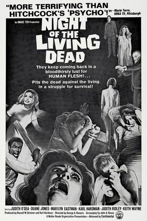 """Night of the Living Dead Movie Poster Replica 13x19/"""" Photo Print"""