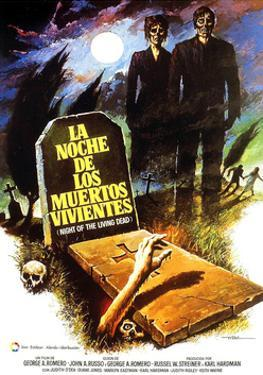 Night of the Living Dead, (aka La Noche De Los Muertos Vivientes), Spanish Poster Art, 1968
