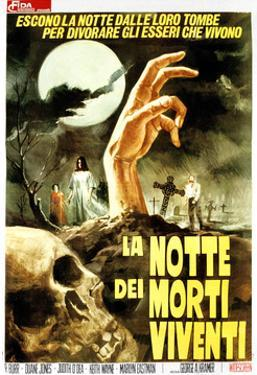 Night of the Living Dead, (aka La Notte Dei Morti Viventi), Italian Poster Art, 1968