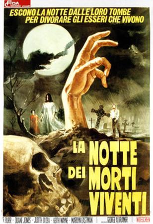Night of the Living Dead, (aka La Notte Dei Morti Viventi), Italian Poster Art, 1968
