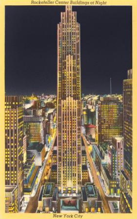 Night, Rockefeller Center, New York City