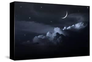 Night Sky With Waxing Moon
