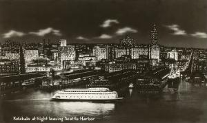Night, Streamlined Ferry, Seattle, Washington