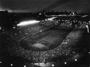 Night Time Crowd Filling Soldier's Field