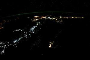 Night time satellite image of Philippines