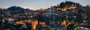 Night view of the Baguio City, Luzon, Philippines