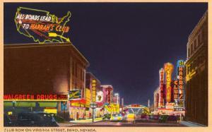 Night, Virginia Street, Reno, Nevada
