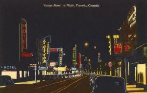 Night, Yonge Street, Toronto