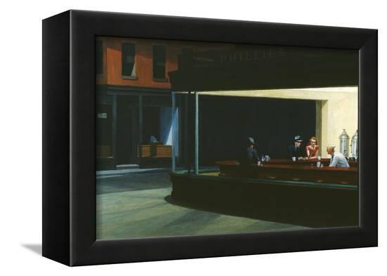 Nighthawks-Edward Hopper-Framed Stretched Canvas