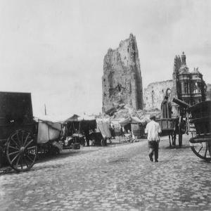 The Hotel De Ville, Arras, France, World War I, C1914-C1918 by Nightingale & Co