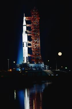 Nighttime View of the Apollo 17 Spacecraft