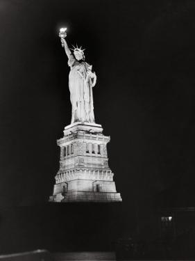 Nighttime View of the Statue of Liberty