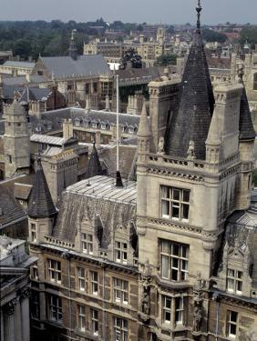 Roofs of Cambridge Univertisy, Cambridge, England by Nik Wheeler
