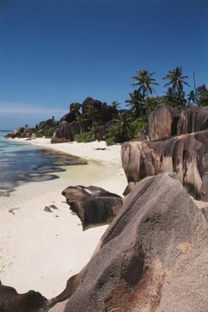 Seychelles, La Digue Island, Union Bay, Point Source D'Argent by Nik Wheeler