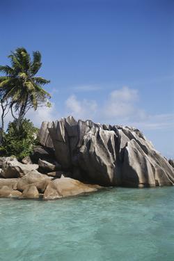 Seychelles, View of Praslin Island by Nik Wheeler