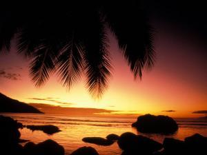 Tropical Sunset on Beauvallon Bay, Seychelles by Nik Wheeler