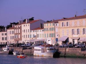 Waterfront of St. Martin, Il De Re, France by Nik Wheeler