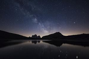 Milky Way over the Lago Delle Baste in South Tyrol by Niki Haselwanter