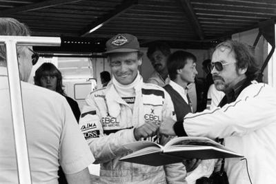 Niki Lauda, F1 Driver for Marlboro Mclaren, at the European Grand Prix, Brands Hatch, Kent, 1983