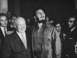 Nikita Khrushchev and Fidel Castro Attending United Nations Sessions