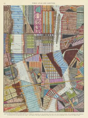 Modern Map of New York II by Nikki Galapon