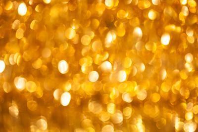 Golden Christmas Bokeh Background